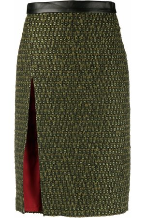 Dsquared2 Tweed midi skirt