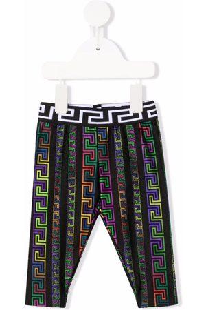 Versace Kids Greca pattern leggings