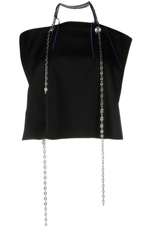 Givenchy Chain-link detail backless top