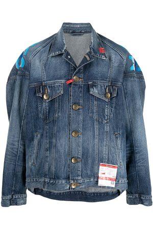 Maison Mihara Yasuhiro Rear graphic print denim jacket