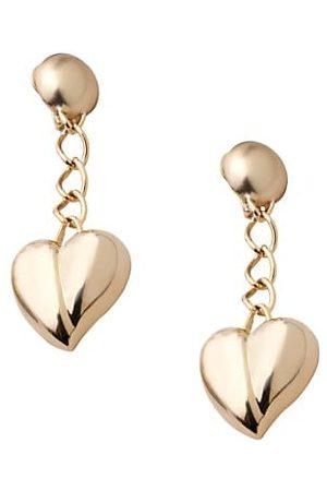 Carolina Herrera Mini Heart Chain Drop Earrings