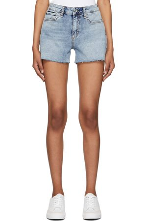 Women Shorts - Rag & bone Blue Denim Dre Low-Rise Shorts
