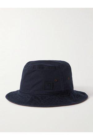 Acne Studios Logo-Appliquéd Cotton-Twill Bucket Hat