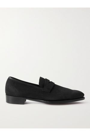 GEORGE CLEVERLEY George Pebble-Grain Suede Penny Loafers