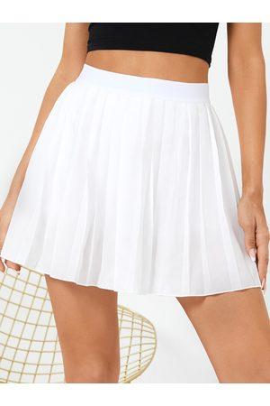 YOINS Pleated Elastic Waist Mini Skirt