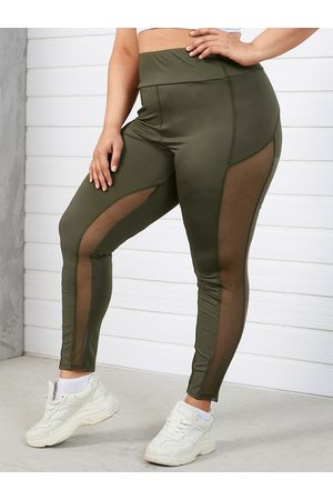 YOINS Women Leggings - Plus Size Patchwork Yoga Leggings