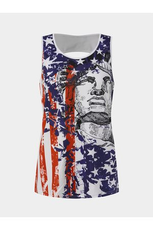 YOINS Graphic American Independence Day Round Neck Cami