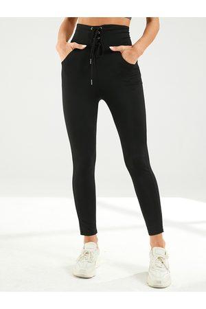 YOINS Lace-Up Design Super Stretch Leggings