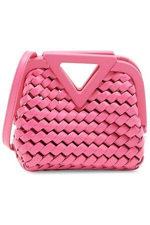 Bottega Veneta Mini Triangle Leather Crossbody Bag