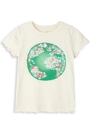 Peek & Beau Little Girl's & Girl's Floral Globe T-Shirt