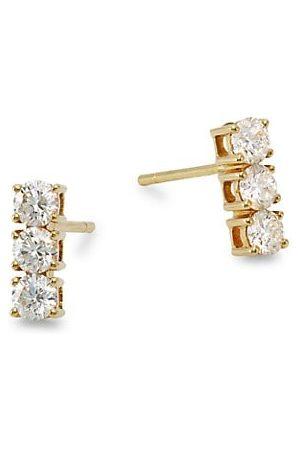 Anita Earrings - 18K & 3 Dot Diamond Earrings
