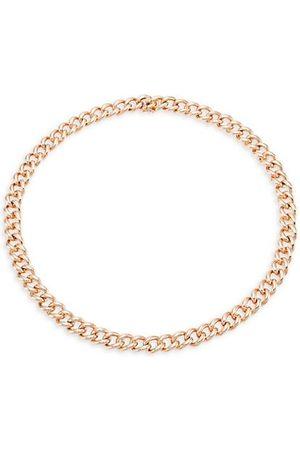 Anita Necklaces - Naples 18K Rose Chain Link Choker Necklace