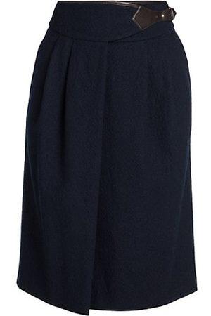 Armani Boiled Virgin Wool Midi Skirt