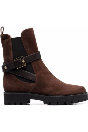 Lorena Antoniazzi Suede chunky low-heeled boots