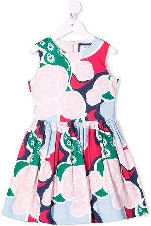 Simonetta A-line floral midi dress