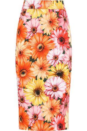 Dolce & Gabbana Sunflower print pencil skirt