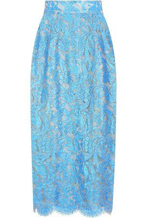 Dolce & Gabbana High-waisted lace pencil skirt