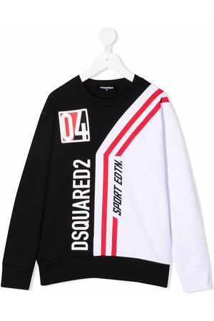Dsquared2 Logo striped long-sleeved top