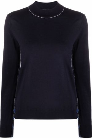 Maison Margiela Contrast-detail knitted jumper