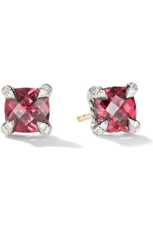 David Yurman Sterling silver Chatelaine garnet and diamond stud earrings