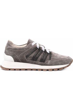 Brunello Cucinelli Side stripe low top sneakers