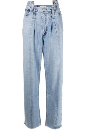 AGOLDE Women Straight - Pieced Angled straight-leg jeans