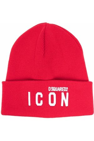 Dsquared2 Icon logo-embroidered knitted beanie