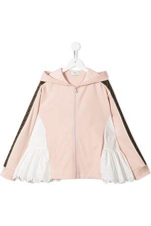 Fendi Multi-panel design zip-fastening hoodie