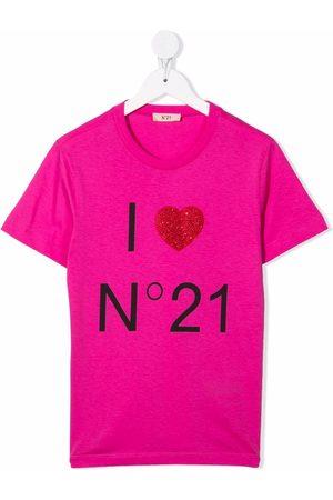 Nº21 Girls Short Sleeve - I Heart N°21 cotton T-shirt