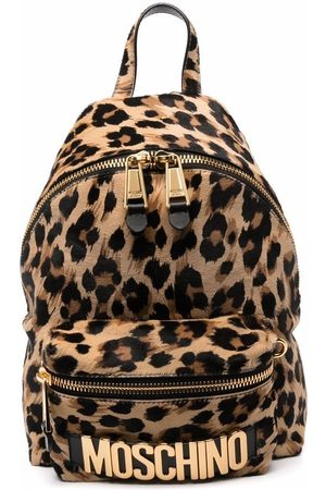 Moschino Small leopard-print backpack