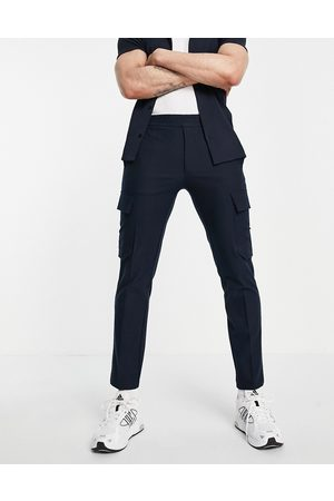 River Island Cargo trousers in navy