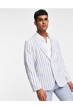 ASOS Slim soft tailored suit jacket with stripe