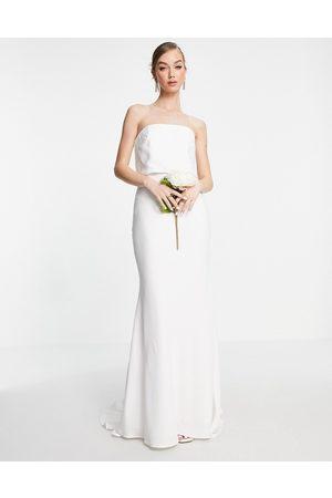 ASOS Women Maxi Dresses - Evelyn satin bandeau wedding dress