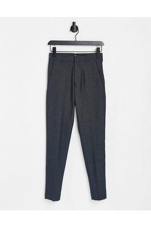 ASOS Super skinny smart trouser in navy pin dot