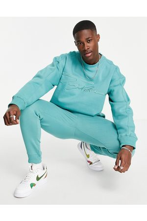Topman Co-ord Signature embroidered sweatshirt in