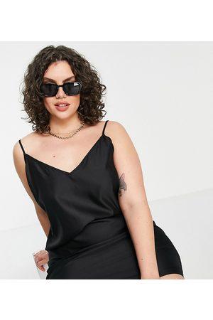ASOS Women Casual Dresses - ASOS DESIGN Curve v neck mini slip dress in