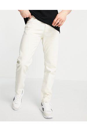 JACK & JONES Intelligence Mike straight fit jeans in ecru-Neutral