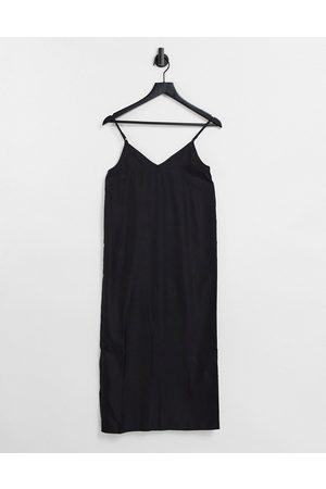 ASOS V neck midi slip dress in