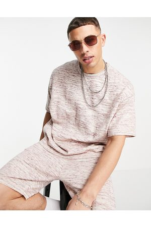 ASOS Knitted linen mix t-shirt co-ord in space dye yarn