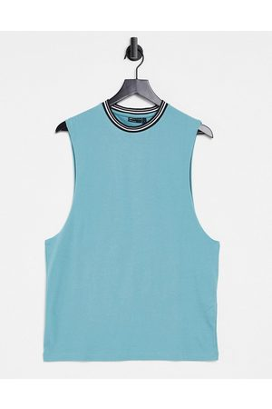 ASOS Men Camisoles - Relaxed vest in organic cotton with contrast tipping