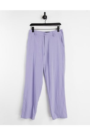 ASOS Linen mix baggy trousers in