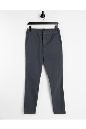 ASOS Men Chinos - Power stretch chinos in charcoal