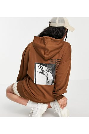 Sixth June Oversized hoodie with back logo and front graphic
