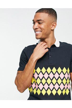 Farah Men Polo Shirts - X SoccerBible Scotland Hampden polo shirt in navy