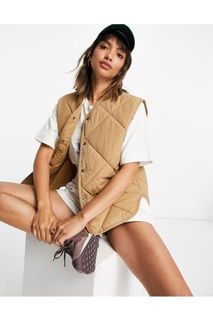 & OTHER STORIES Short sleeve nylon quilted vest in -Neutral