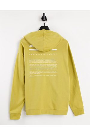 ASOS ASOS Unrvlld Spply co-ord oversized hoodie with logo print in antique gold