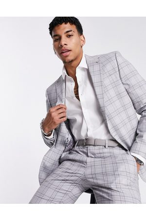 River Island Skinny suit jacket in check