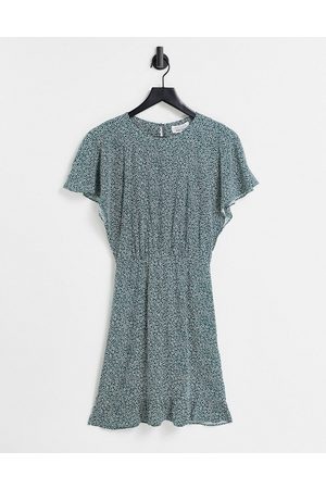 & OTHER STORIES Ecovero cinched waist mini dress in floral