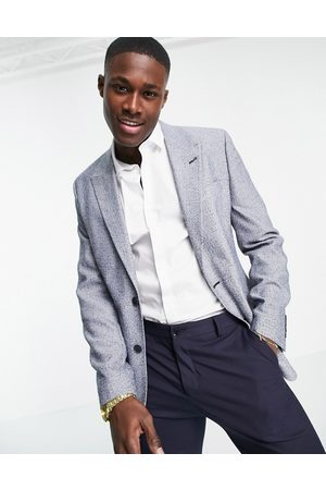 ASOS Super skinny suit jacket in nep texture