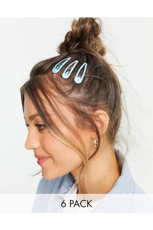 ASOS Pack of 6 hair clips in daisy and cloud prints-Multi